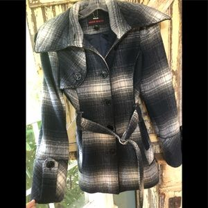 Miss Sixty plaid coat size Medium